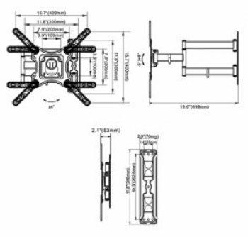 Suport reglabil pentru TV Northbayou DF-400