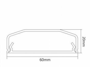 Canal alb pentru cabluri MC-695